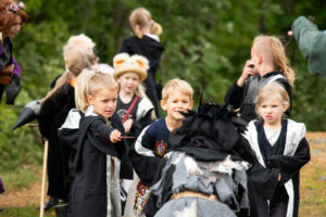 Young wizards encountering a magic beast. Picture by Tuomas Puikkonen